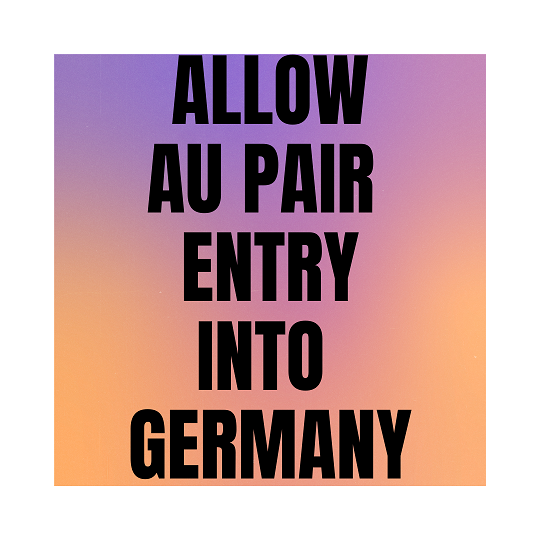 allow au pair entry